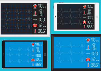 Ekg Machines Vectors - vector gratuit #332673