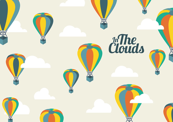 Free Hot Air Balloon Background - vector gratuit #332703