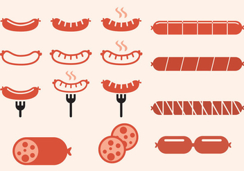 Sausage Icons - Free vector #332973