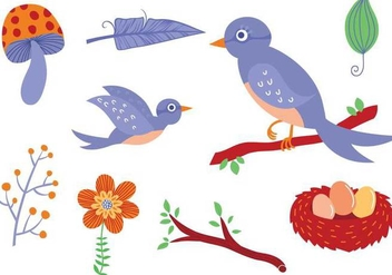 Free Forest Birds Vectors - бесплатный vector #333013