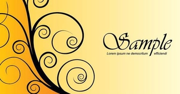 Black Swirls Yellow Background - vector gratuit #333103