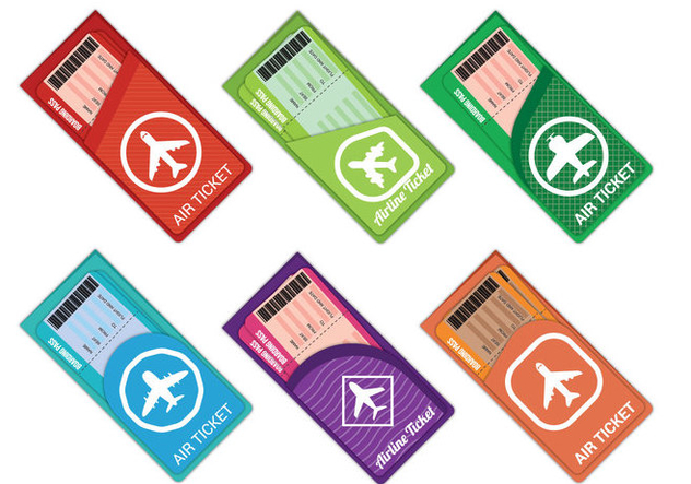 Airplane Ticket Vector - Free vector #333303