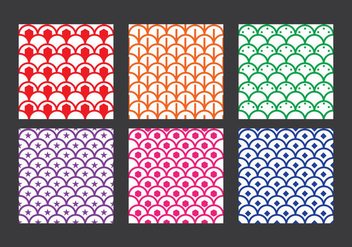Fish Scale Pattern Vector - vector gratuit #333313