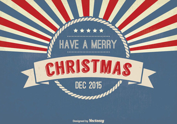 Retro Style Christmas Greeting Illustration - vector #333373 gratis