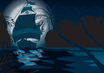 Sea Mystical Night - Free vector #333383