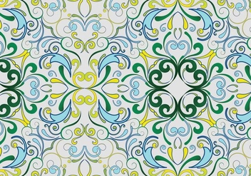 Green seamless garden pattern - vector gratuit #333443