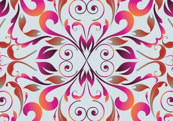Seamless colorful floral pattern background - Free vector #333513