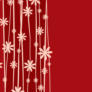 Minimal Floral Plant Red Background - vector gratuit #333533