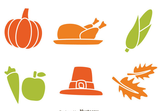 Thanksgiving-Icons isoliert - Kostenloses vector #333843