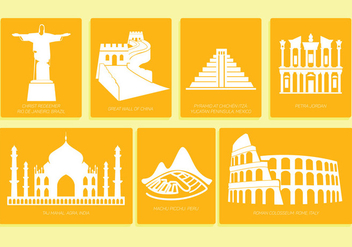 7 wonders of the world - vector #333873 gratis