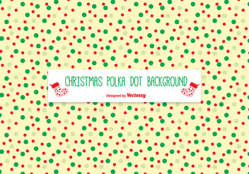 Christmas Polka Dot Pattern Background - vector #333993 gratis