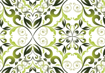 Green garden floral seamless background - vector gratuit #334013