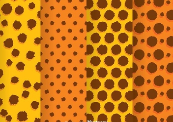 Orange And Brown Rough Polka Dot Pattern - Free vector #334053