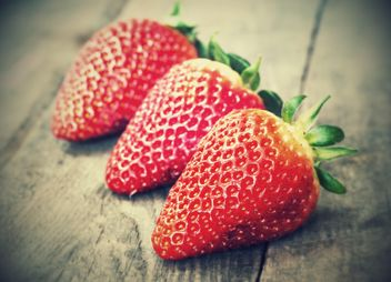 Three Strawberries - Free image #334293
