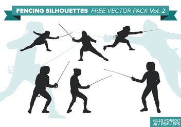 Fencing Silhouettes Free Vector Pack Vol. 2 - Free vector #334403