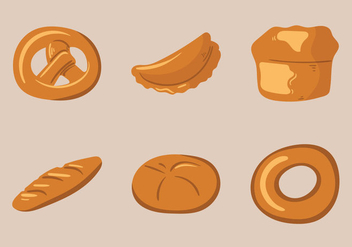 Free Bread Rolls Vector Illustration - бесплатный vector #334423