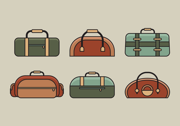 Vector Bag Illustration Set - Free vector #334433