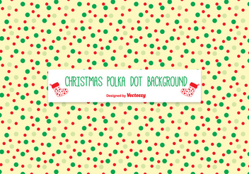 Polka Dots Texture Christmas Background - vector #334463 gratis