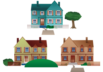 Free Residential Town Houses Vector - Free vector #334613
