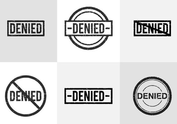 Denied Stamp - Free vector #334633