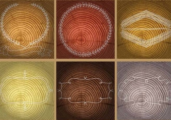 Tree Rings Templates - vector gratuit #334863