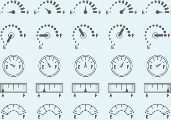 Fuel Gauge Vector Icons - Free vector #334873