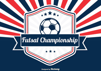 Futsal Championship Retro Illustration - Free vector #334893