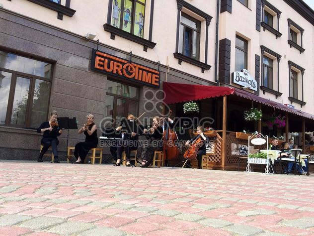 Street musicians in Rivne - Free image #335223