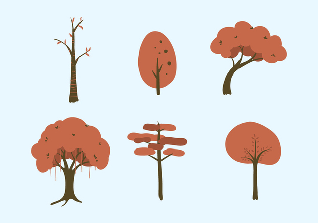 Vector Trees Illustration Set - Free vector #335363