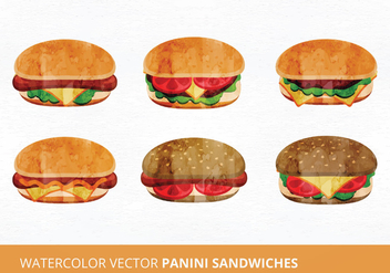 Panini Sandwich Vector Illustration - бесплатный vector #335463