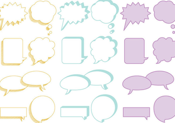 Callout Text Bubbles - vector #335533 gratis