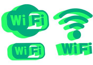 Wifi Logo Vectors - бесплатный vector #335573