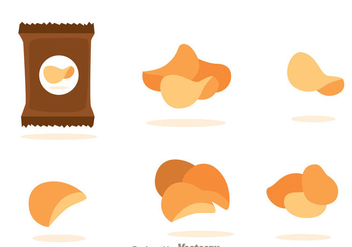 Potato Chips Vectors - бесплатный vector #335623