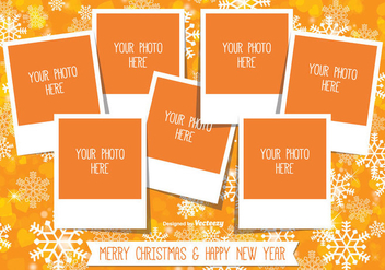 Christmas Photo Collage Template - vector gratuit #335743