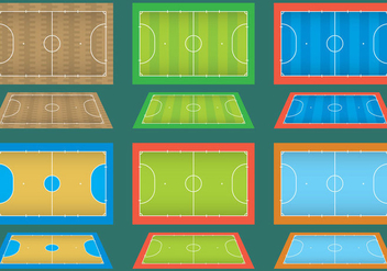 Futsal Courts - Free vector #335793