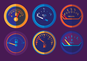 Fuel Gauge Vectors - Free vector #335943