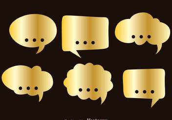 Gold Callout - Free vector #335983