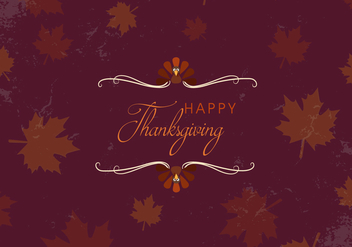 Free Happy Thanksgiving Leaves Vector - Free vector #336033