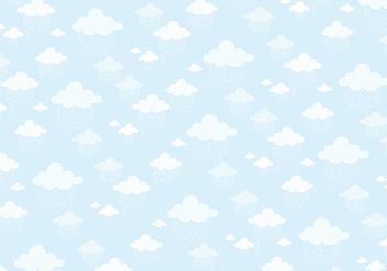 Clouds pattern background - vector gratuit #336143