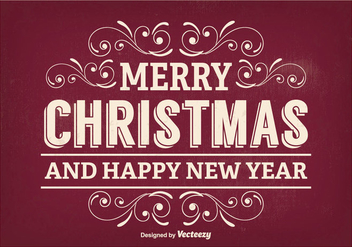 Retro Christmas Greeting Illustration - vector gratuit #336163