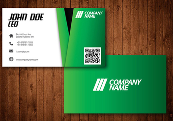 Green Creative Visiting Businesscard Vector - Free vector #336183