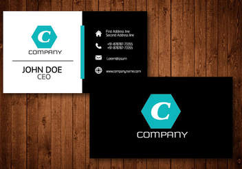 Hexagon Creative Business Card - vector gratuit #336193