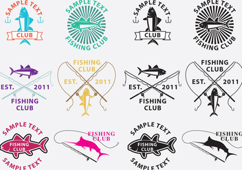 Fishing Logos - vector gratuit #336233