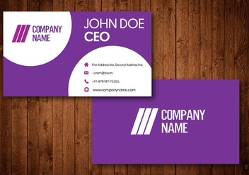 Creative Purple Business Cards - vector #336263 gratis