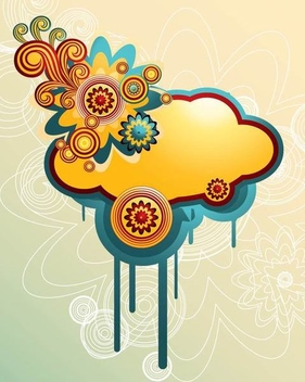 Swirling Colorful Splashed Cloud Background - vector gratuit #336323