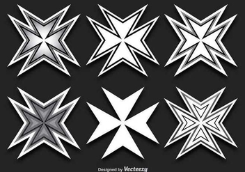 Maltese Cross Shapes - Free vector #336543