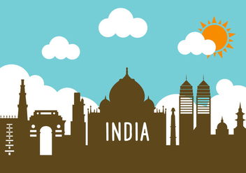 India Landscape in Vector - Free vector #336563
