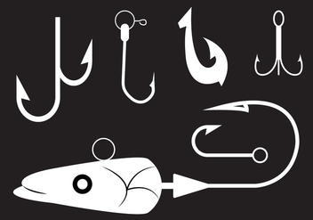 Collection of Fishing Hooks in Vector - vector gratuit #336633
