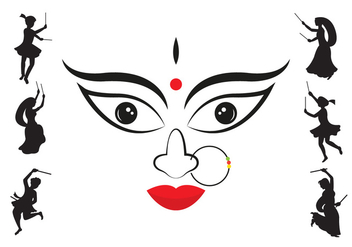 Vector Illustration of Navratri - Free vector #336723