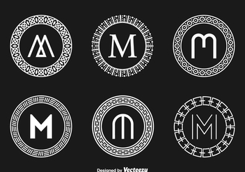 Free Abstract Monograms Vector - vector #336733 gratis